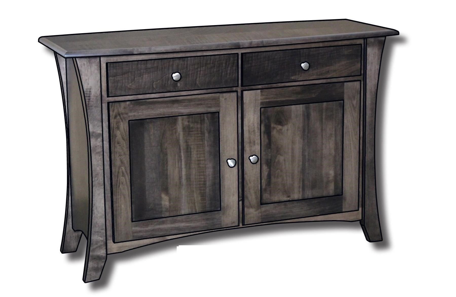 """Roseberry Enclosed Customizable Solid Wood 42"""" Sofa Table by Ashery Woodworking at Saugerties Furniture Mart"""