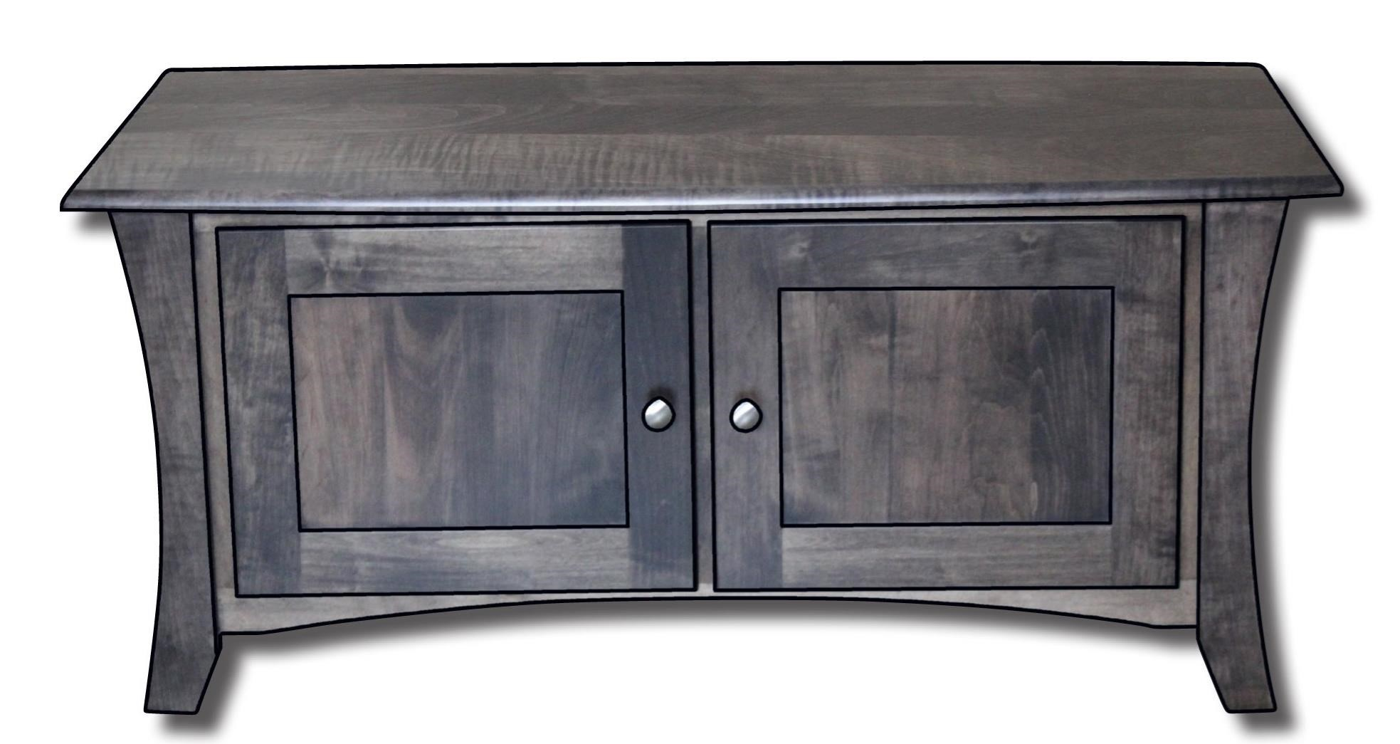 """Roseberry Enclosed Customizable Solid Wood 42"""" Coffee Table by Ashery Woodworking at Saugerties Furniture Mart"""