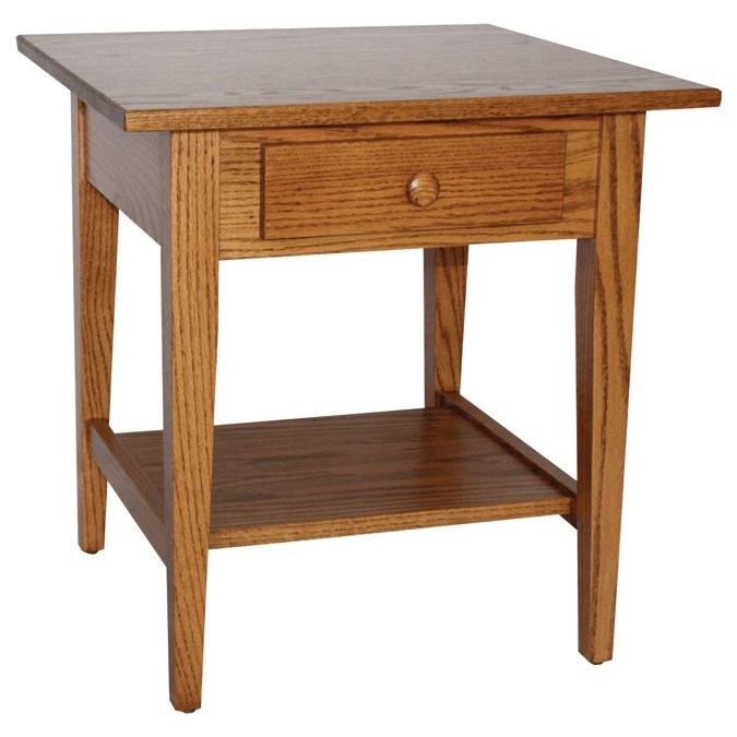 Shaker Style Customizable Solid Wood End Table by Ashery Woodworking at Saugerties Furniture Mart
