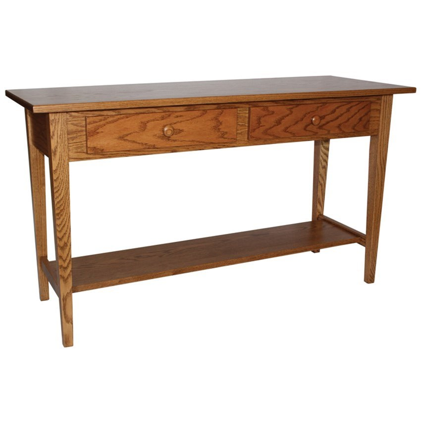 """Shaker Style Customizable Solid Wood 48"""" Sofa Table by Ashery Woodworking at Saugerties Furniture Mart"""