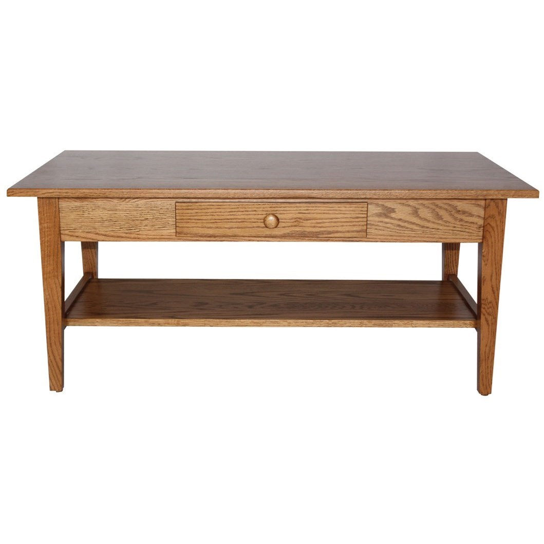 Shaker Style Customizable Solid Wood Coffee Table by Ashery Woodworking at Saugerties Furniture Mart