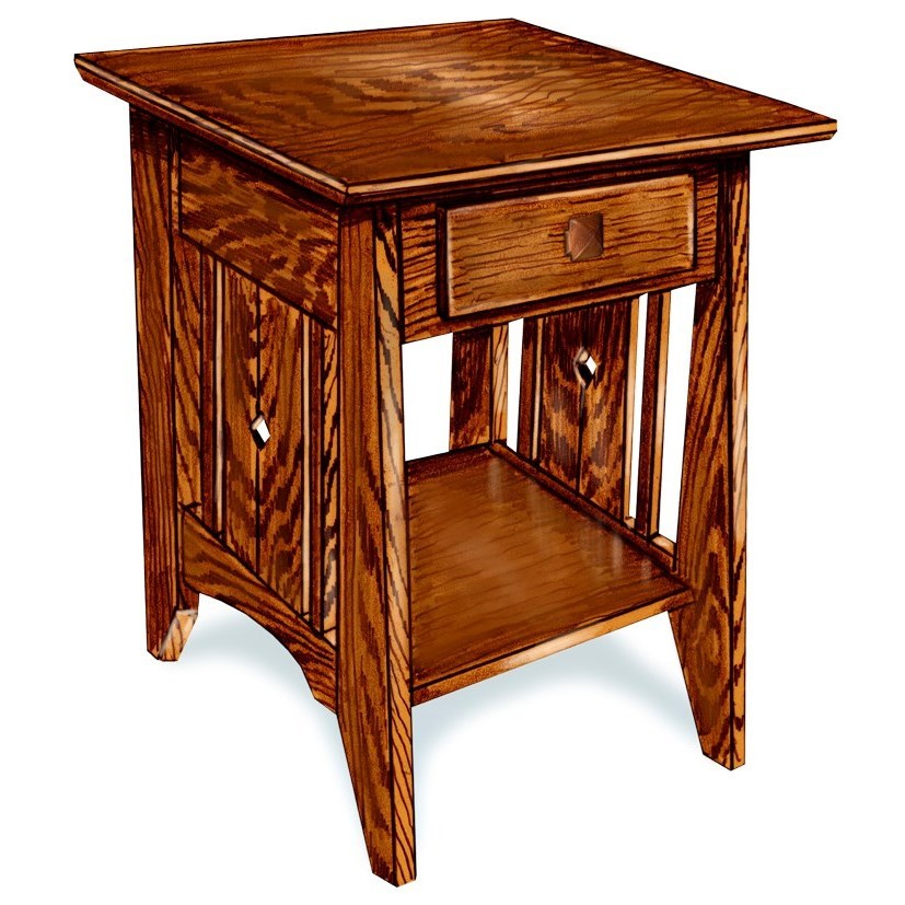 Tempe Mission Customizable Solid Wood End Table by Ashery Woodworking at Saugerties Furniture Mart
