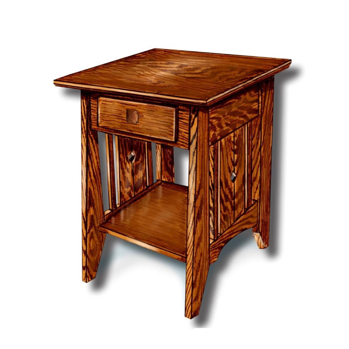 Tempe Mission Customizable Solid Wood Lamp Table by Ashery Woodworking at Saugerties Furniture Mart