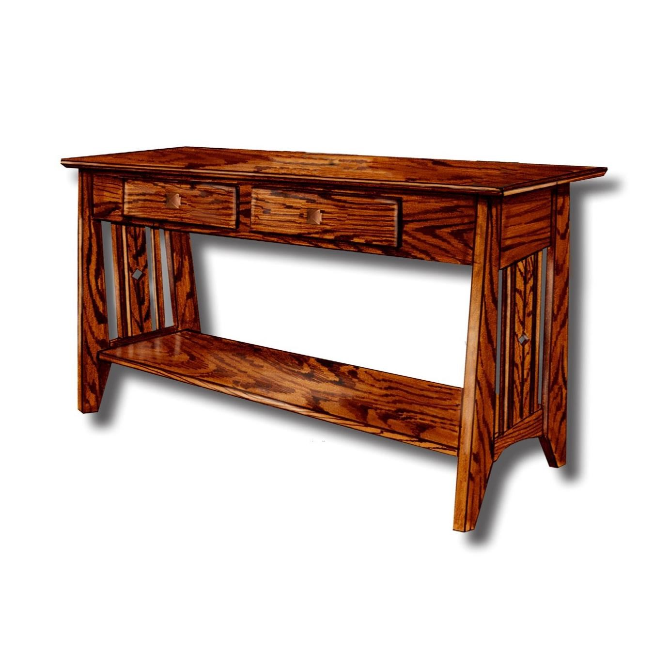 Tempe Mission Customizable Solid Wood Sofa Table by Ashery Woodworking at Saugerties Furniture Mart