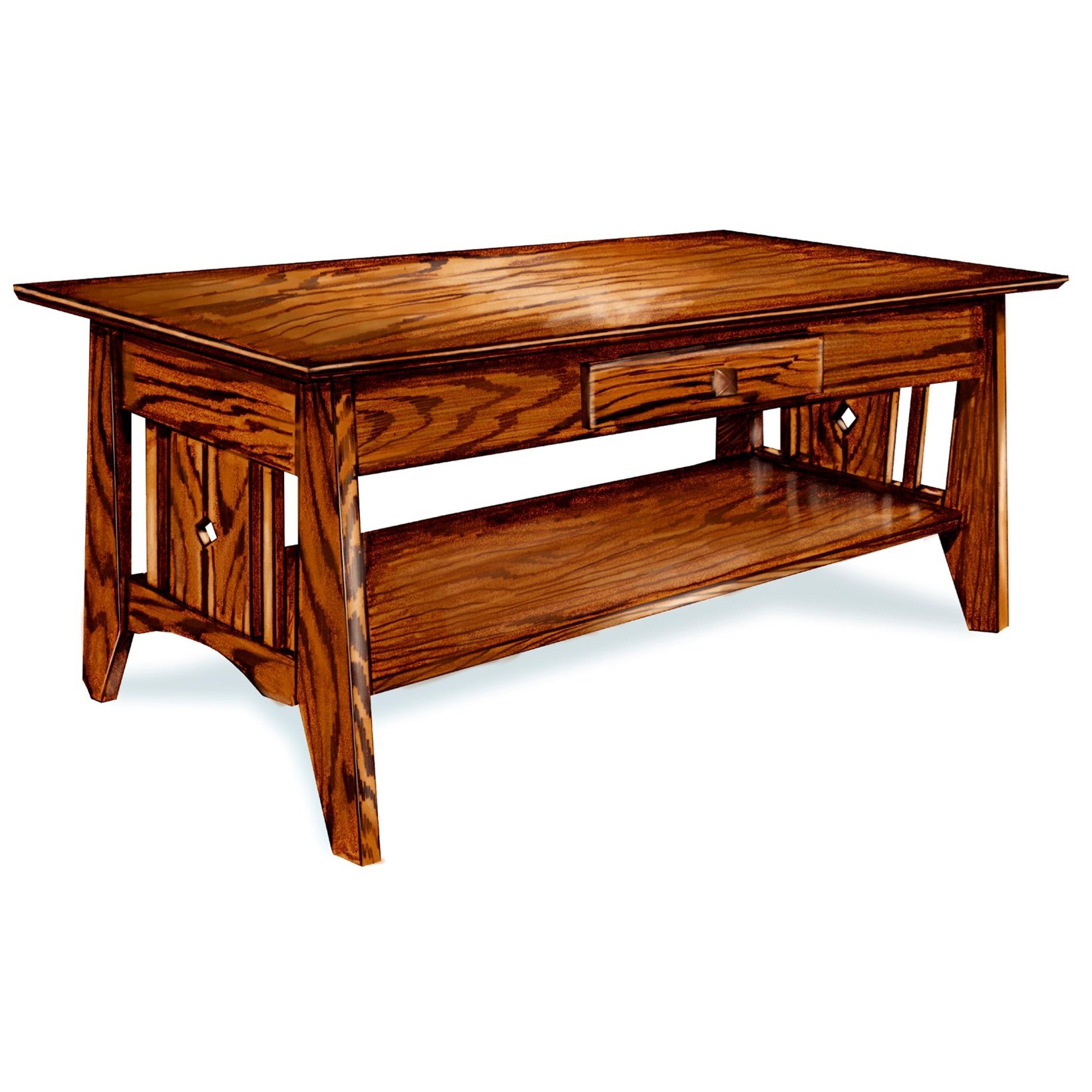 Tempe Mission Customizable Solid Wood Coffee Table by Ashery Woodworking at Saugerties Furniture Mart