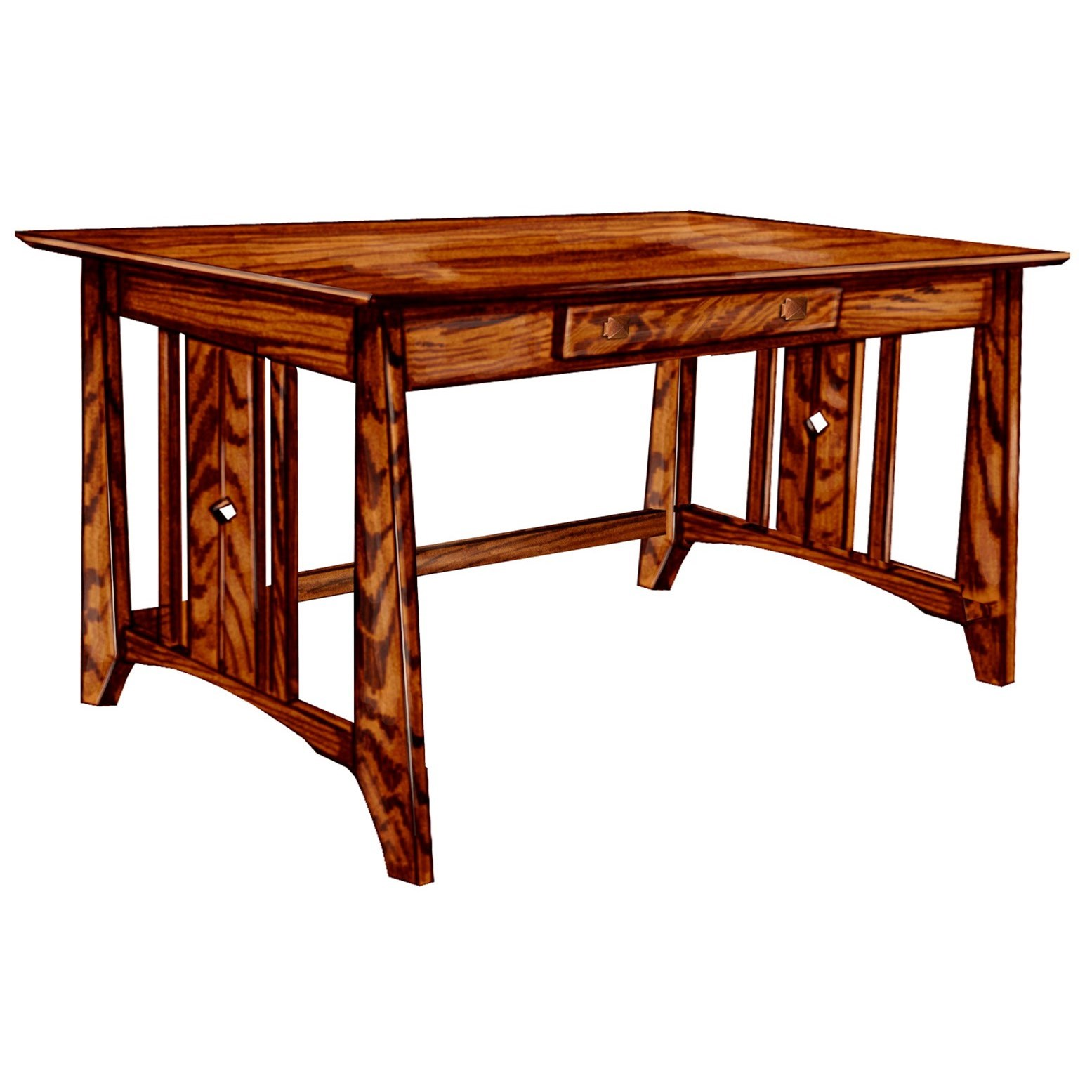 Tempe Mission Customizable Solid Wood Library Table by Ashery Woodworking at Saugerties Furniture Mart
