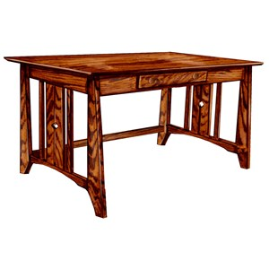 Customizable Solid Wood Library Table