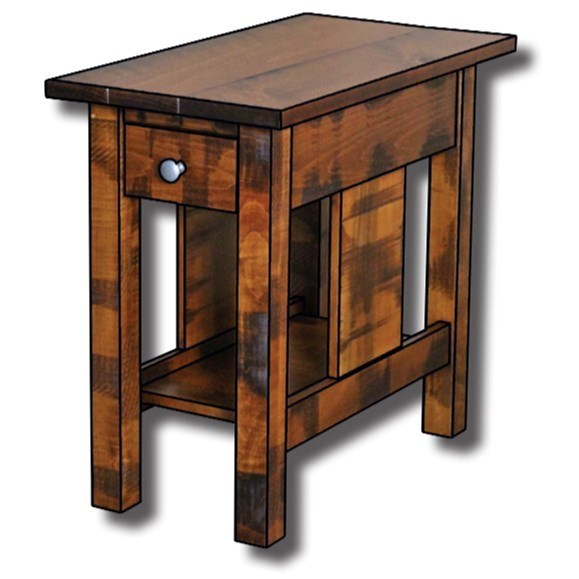 """Weldon Style Customizable Solid Wood 14"""" End Table by Ashery Woodworking at Saugerties Furniture Mart"""