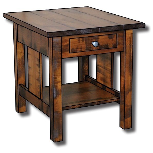 """Weldon Style Customizable Solid Wood 22"""" End Table by Ashery Woodworking at Saugerties Furniture Mart"""