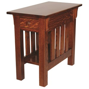 Customizable Solid Wood Rectangular End Table