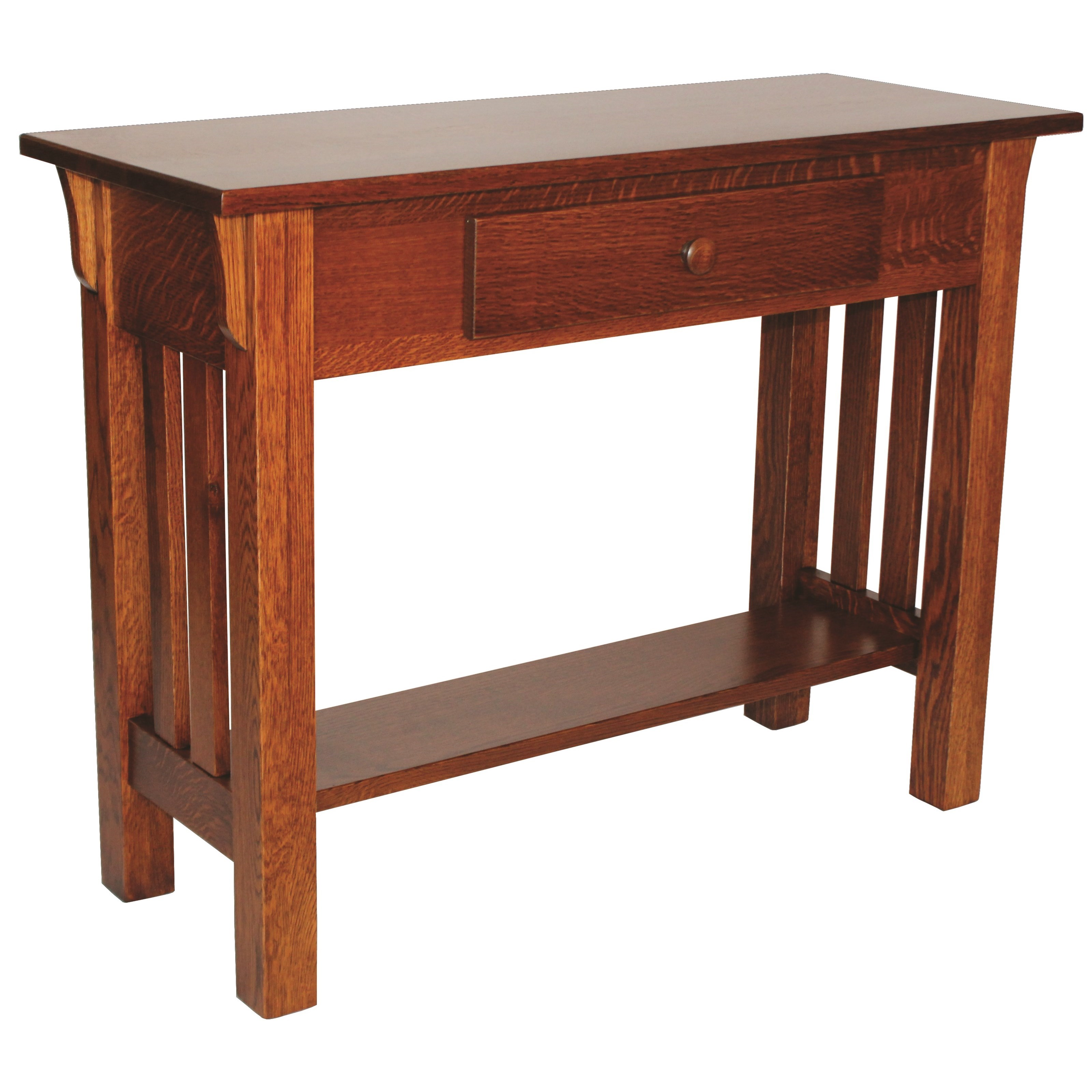 Wide Slat Mission Sofa Table by Ashery Woodworking at Saugerties Furniture Mart