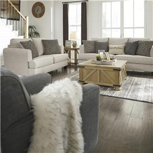 Beige Sofa, Loveseat and Swivel Chair