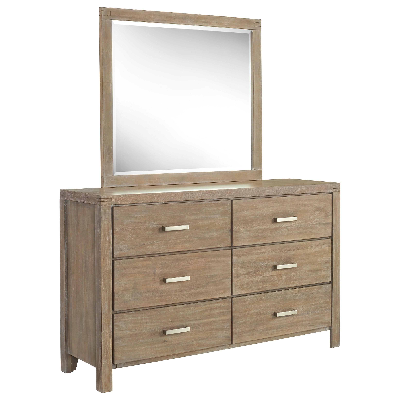 Ambrosh Dresser & Mirror by Ashley Furniture at HomeWorld Furniture