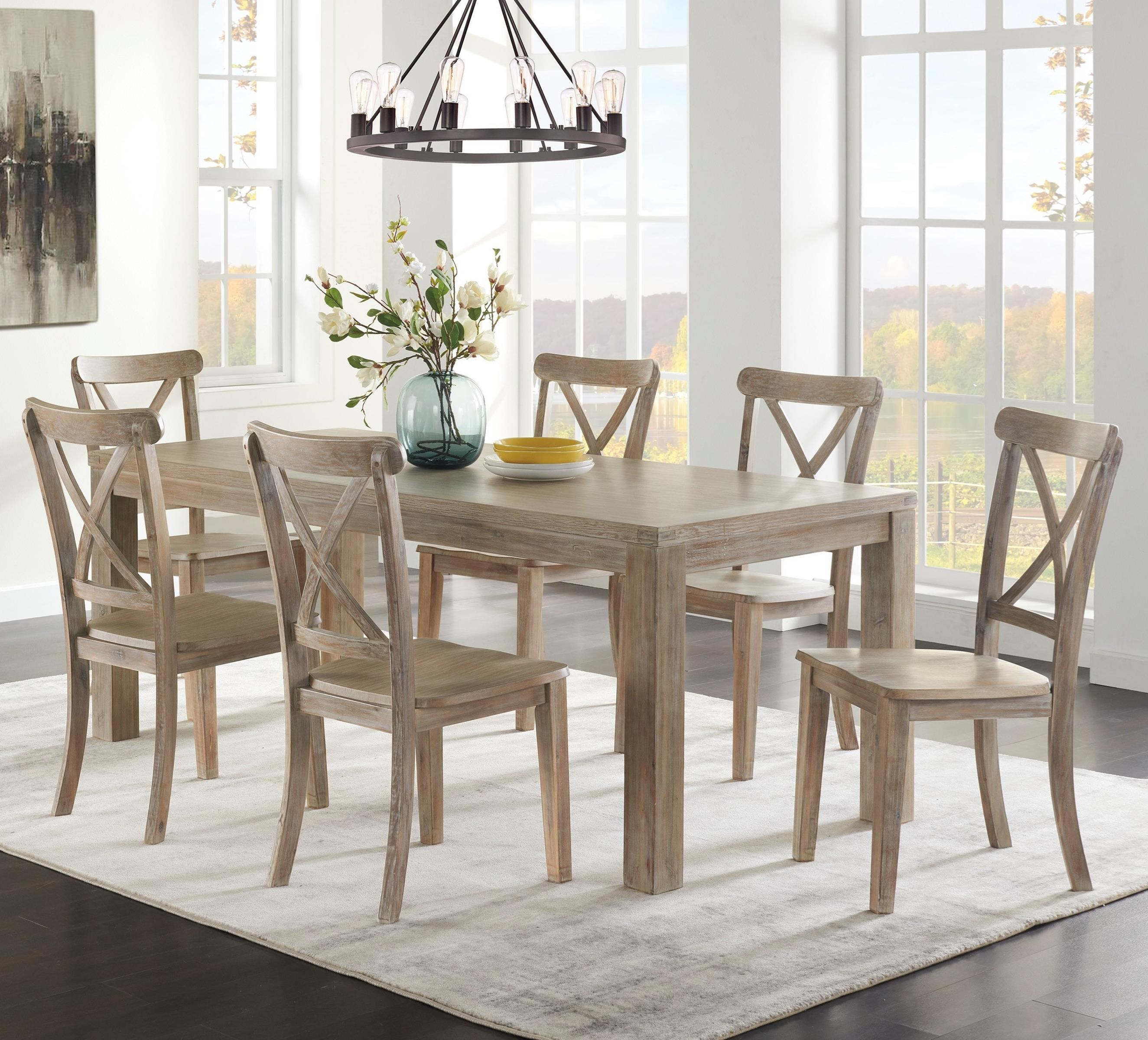 Ambrosh 7-Piece Dining Table Set by Ashley Furniture at HomeWorld Furniture