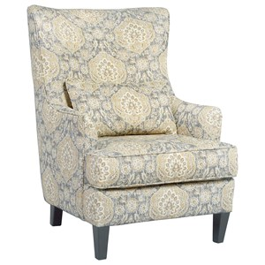 Scalloped Wingback Accent Chair