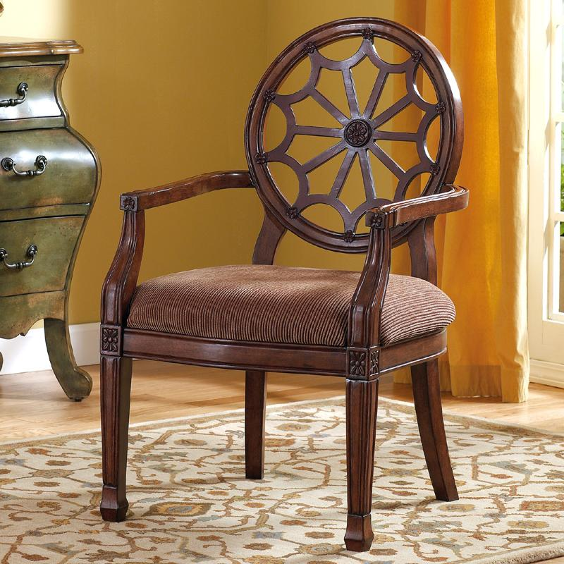 Eastern Tapestry - Bark Showood Accent Chair at Fisher Home Furnishings
