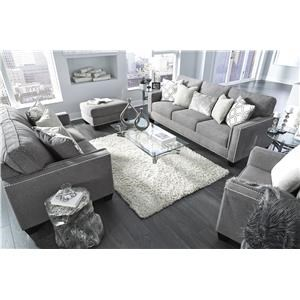 Fog Sofa, Chair and Ottoman Set