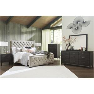 5 Piece Queen Upholstered Bedroom Set