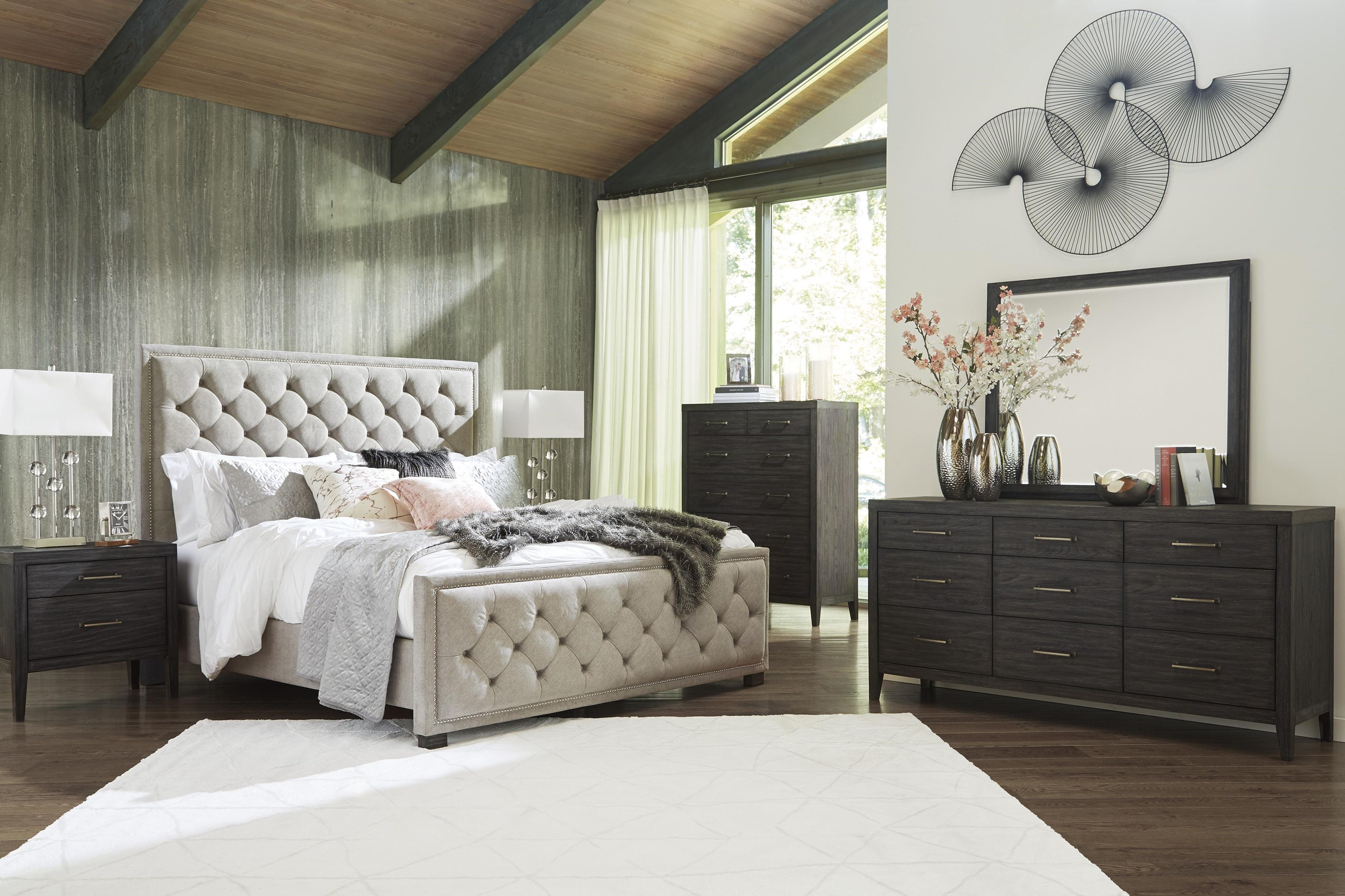 Bellvern 7 Piece Queen Upholstered Bedroom Set by Ashley Furniture at Sam Levitz Outlet