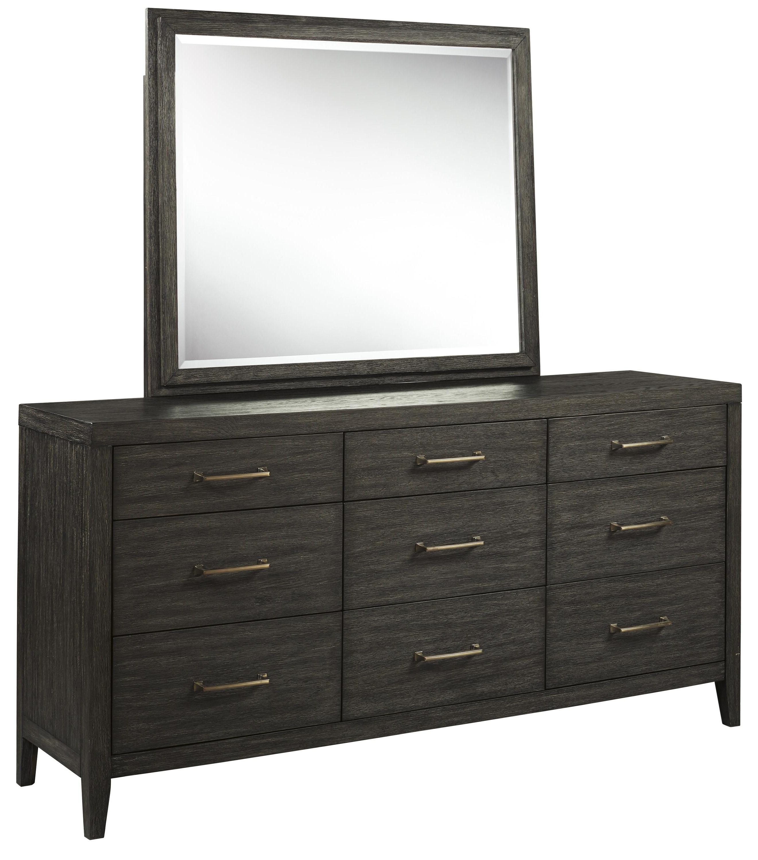 Bellvern Dresser and Mirror Set by Ashley Furniture at Sam Levitz Outlet