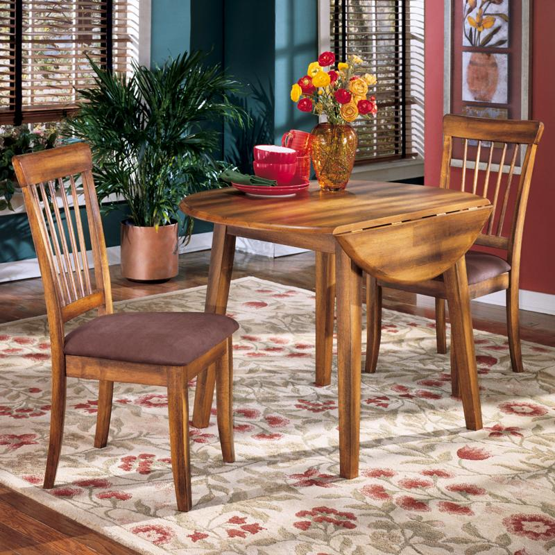 Berringer 3-Piece Drop Leaf Table & Side Chair Set by Ashley Furniture at Sparks HomeStore