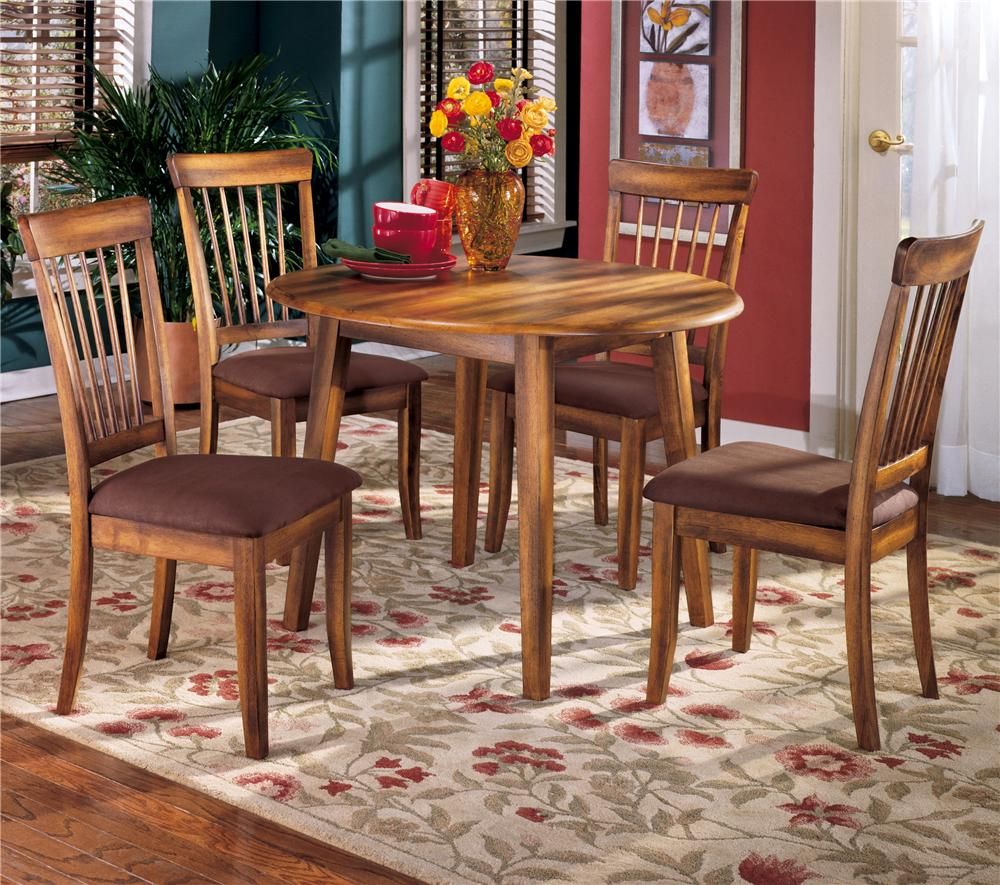 Berringer 5-Piece Drop Leaf Table & Side Chair Set by Ashley Furniture at Rife's Home Furniture