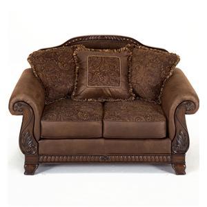 Ashley Furniture Bradington - Truffle Upholstered Loveseat