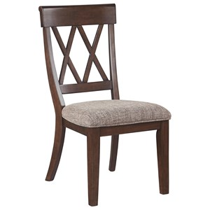 Dining Room Side Chair with Upholstered Seat