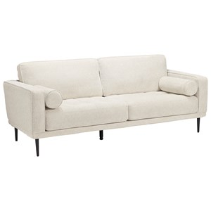 Mid-Century Modern Sofa with Bolster Pillows