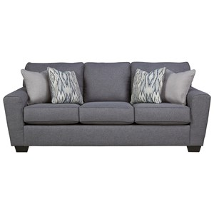 Contemporary Queen Sofa Sleeper with Memory Foam Mattress