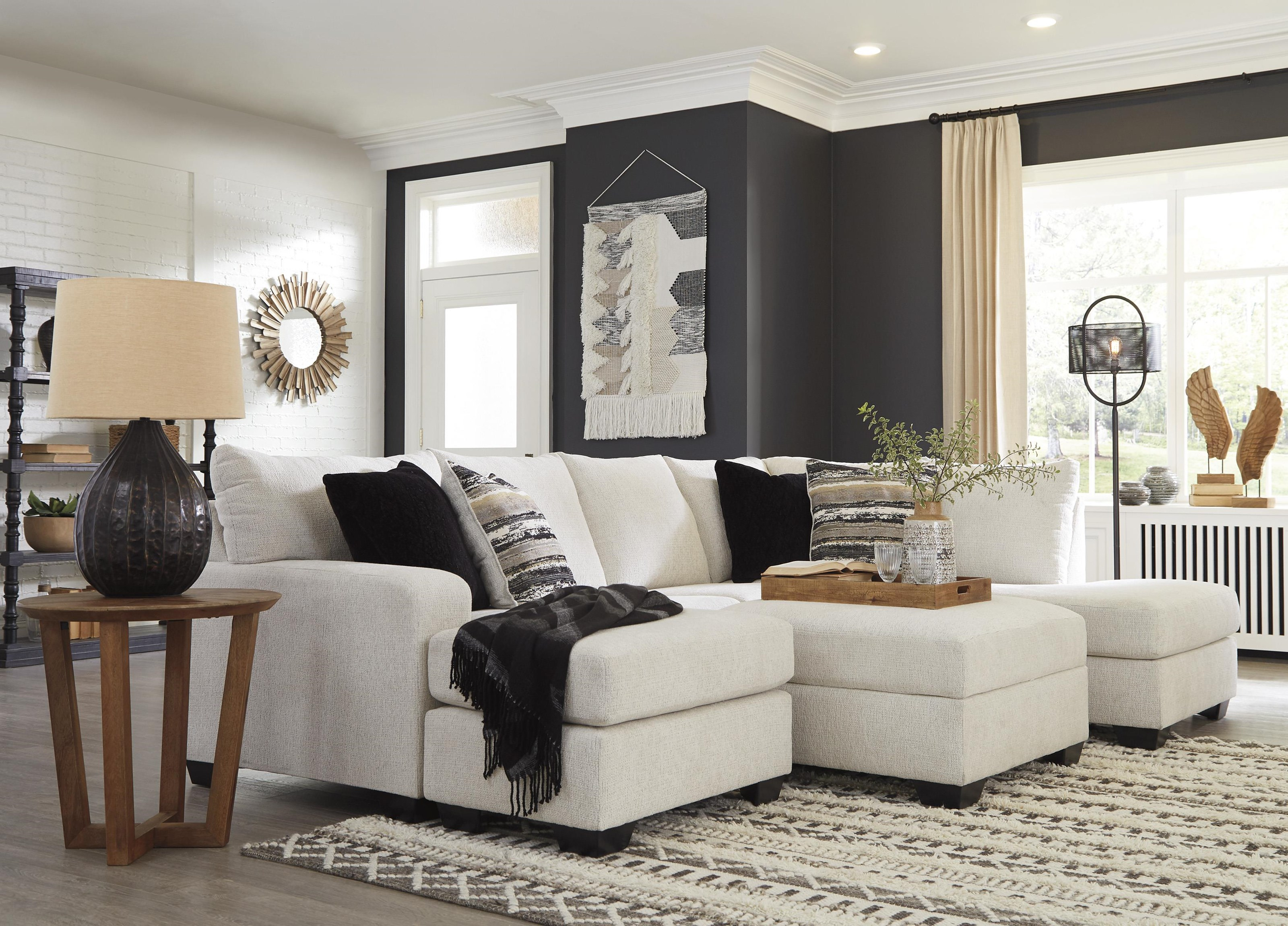2 PC Sectional and Storage Ottoman Set