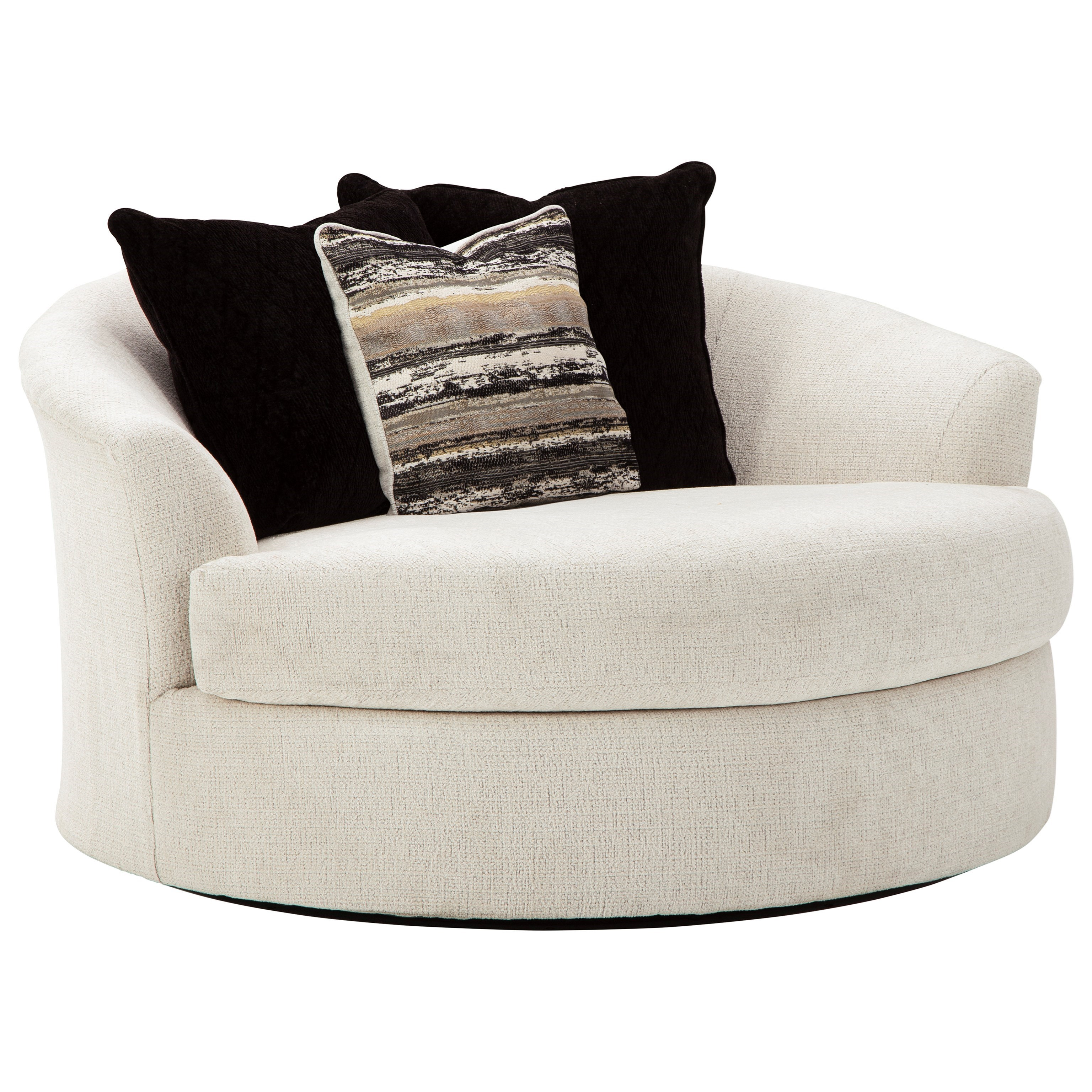 Cambri Oversized Round Swivel Chair at Walker's Furniture