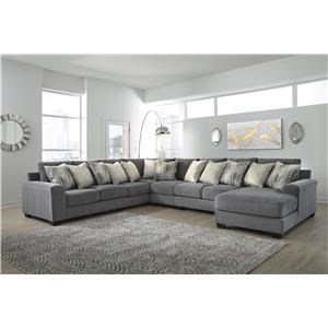 5 Piece Grey Sectional