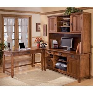 Ashley Furniture Cross Island 4 Piece L-Shape Desk
