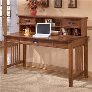 Ashley Furniture Cross Island Large Leg Desk and Low Hutch
