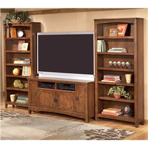 Ashley Furniture Cross Island 60 Inch TV Stand & 2 Large Bookcases