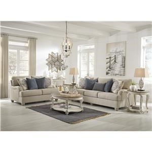 Bisque Sofa and Loveseat Set