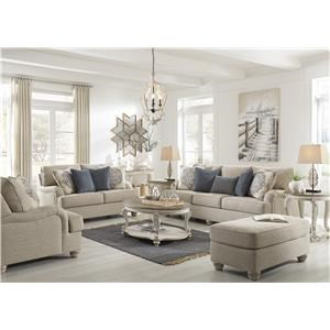 Bisque Sofa, Loveseat, Chair and Ottoman Set