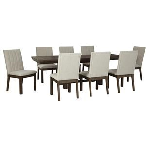 9 PC Table and 8 UPH Side Chairs