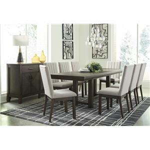 10 PC Table, 8 UPH Side Chairs and Server Set