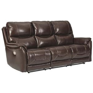 Power Reclining Sofa with Adjustable Headrest