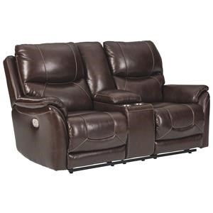 Reclining Loveseat with Console and Adjustable Headrest