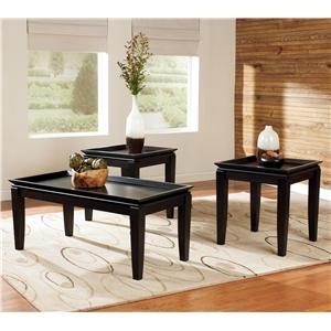 3-in-1 Pack Contemporary Occasional Tables with 1 Cocktail Table and 2 End Tables