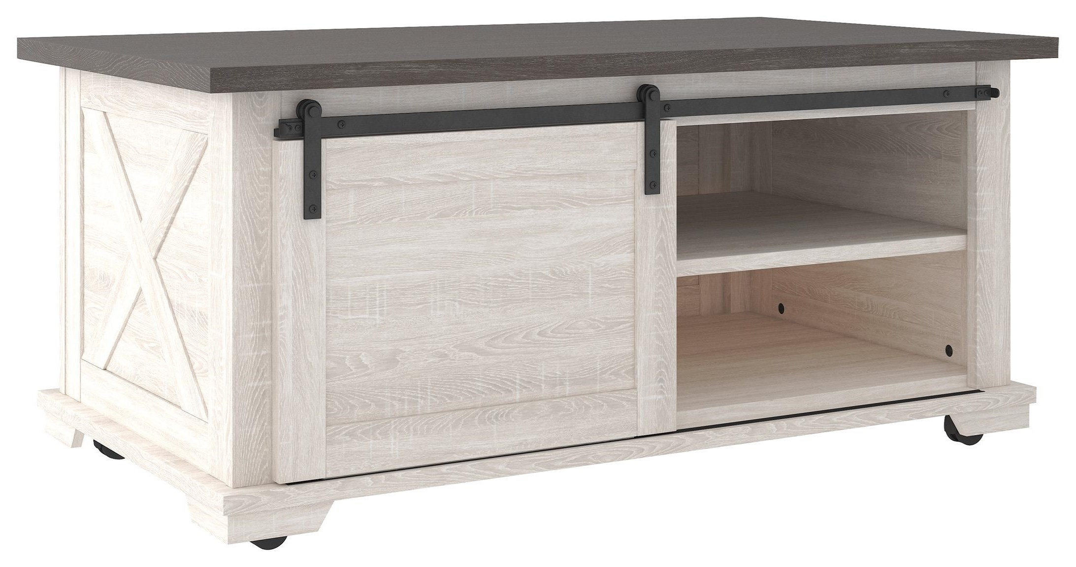 Rectangular Cocktail Table and Square End Ta