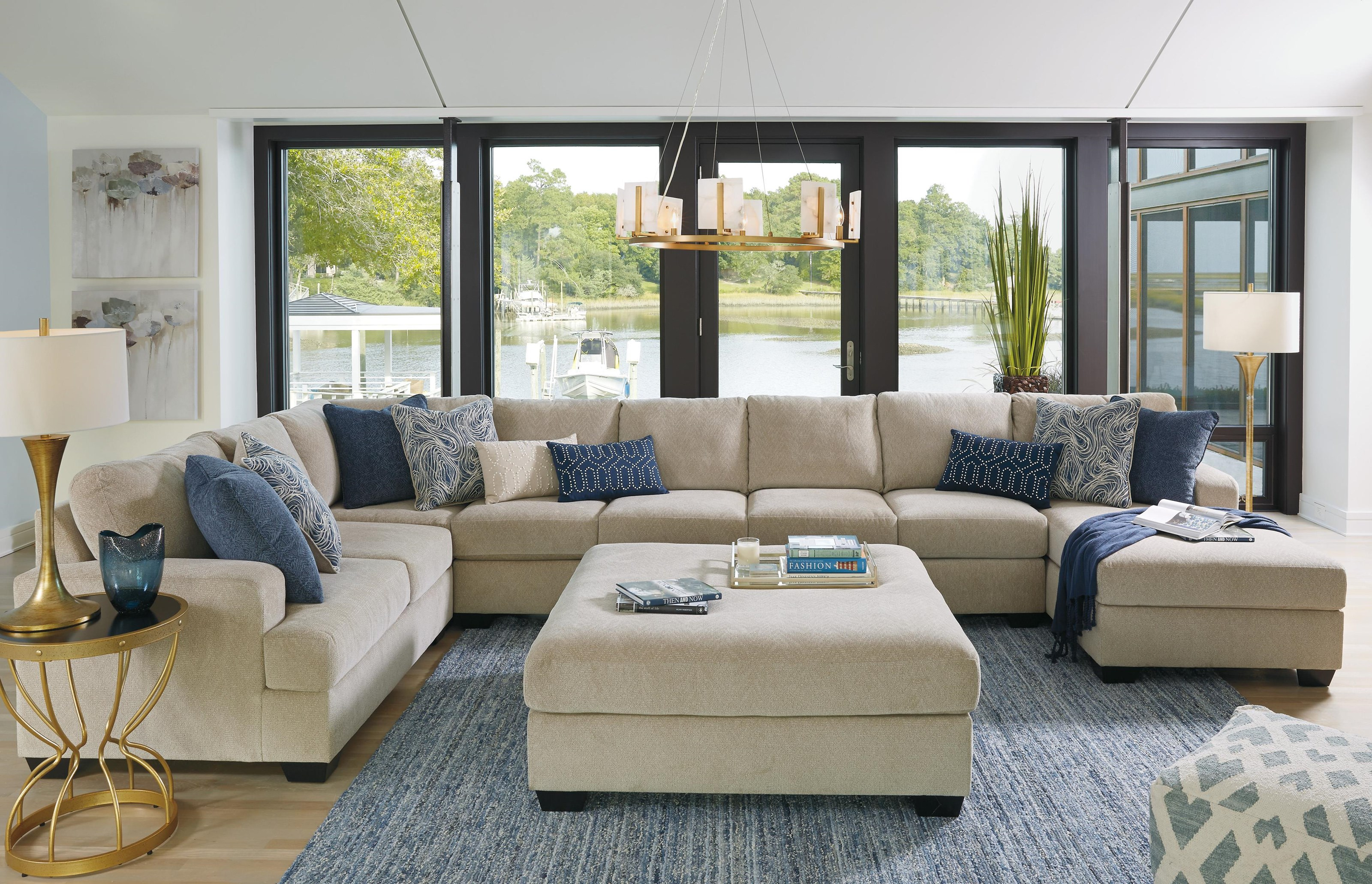 Enola 5PC Sectional and Ottoman Set by Ashley Furniture at Sam Levitz Furniture