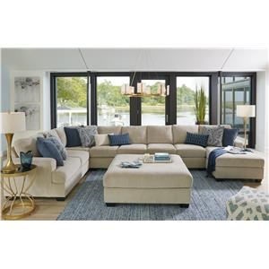 Sepia 5PC Sectional and Ottoman Set