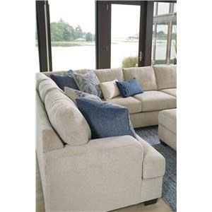 Sepia 4PC sectional and Cocktail Ottoman Set