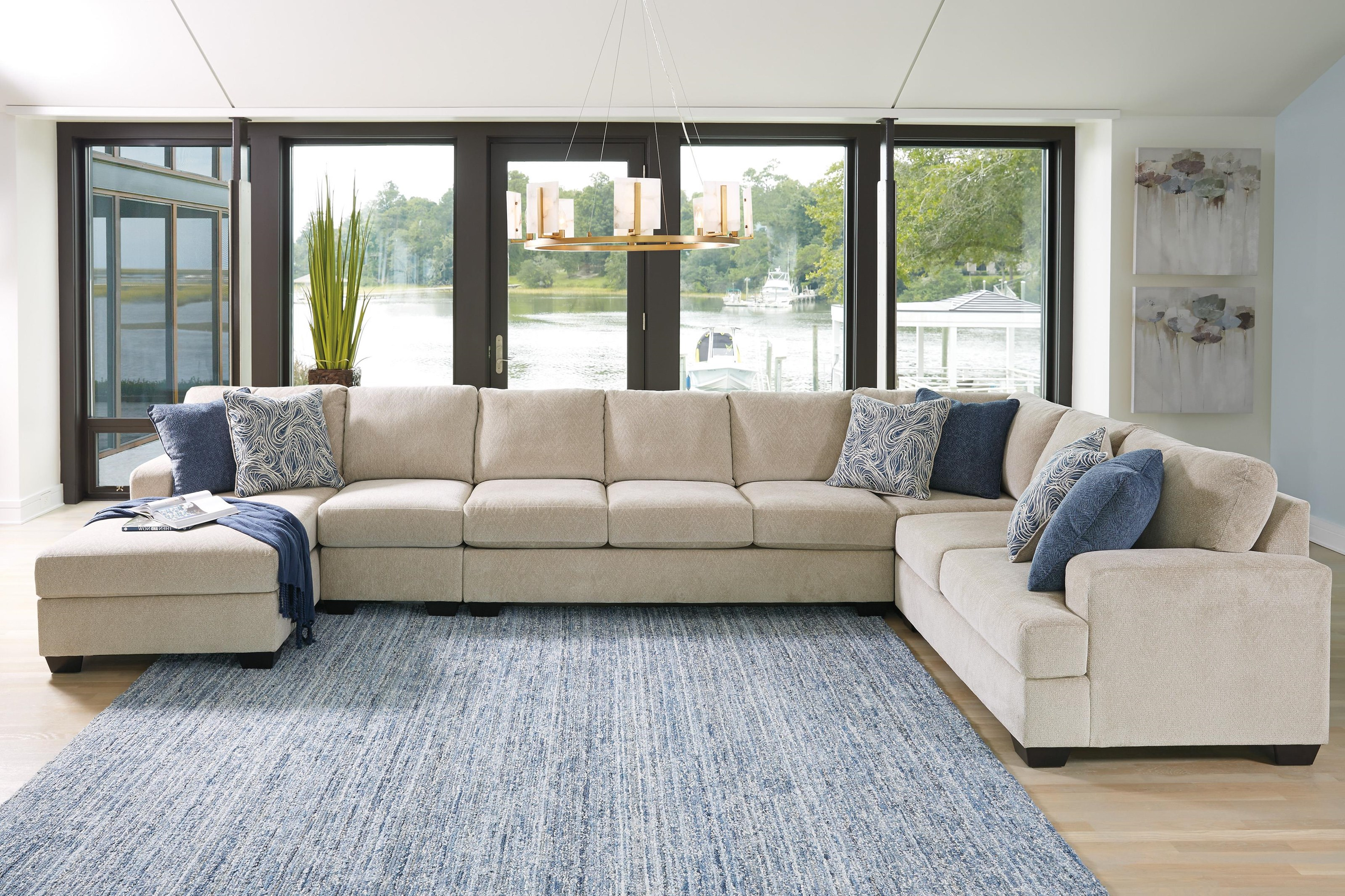 5PC Left Arm Facing Chaise Sectional