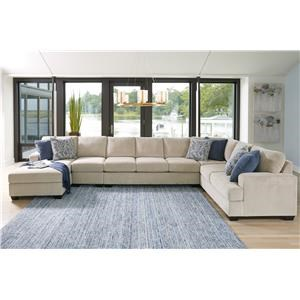 Sepia 5PC Left Arm Facing Chaise Sectional