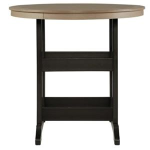Outdoor Bar Height Table with Umbrella Hole Option
